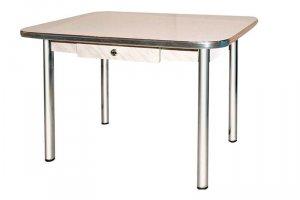 Хромированный стол с ящиком - Мебельная фабрика «Вся Мебель»
