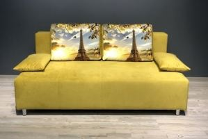 Диван без подлокотников желтый Huston - Мебельная фабрика «Полярис»