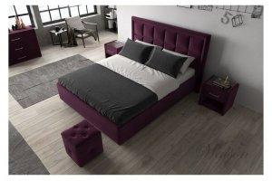 Интерьерная бордовая кровать Enjoy - Мебельная фабрика «Walson»
