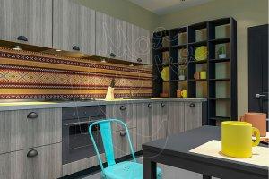 Интересная кухня Свитер с оленями - Мебельная фабрика «Моя кухня», г. Санкт-Петербург