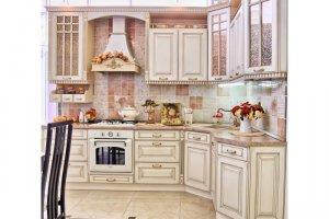 Изящная угловая кухня Патина - Мебельная фабрика «Мечта»