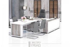 Кабинет руководителя Grace белый - Мебельная фабрика «ЭКСПРО ГРЕЙД»