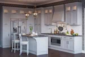 Классическая кухня Честер с островом - Мебельная фабрика «Атлас-Люкс»