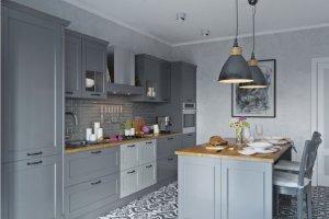 Классическая кухня Флорида с  островом - Мебельная фабрика «Атлас-Люкс»