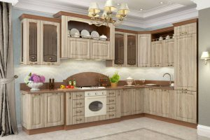 Классическая кухня Равенна на заказ в цвете мокко - Мебельная фабрика «Столлайн»