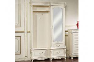 Классическая прихожая AFINA в белом цвете с жемчужной патиной - Импортёр мебели «AP home», г. Ростов-на-Дону