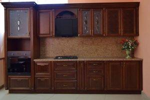 Классическая прямая кухня Каштан - Мебельная фабрика «Ивна», г. Яблоновский