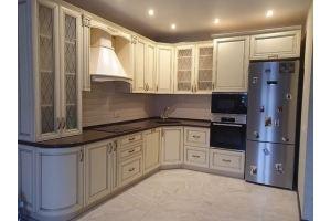 Классическая угловая кухня массив - Мебельная фабрика «Киржачская мебельная фабрика»