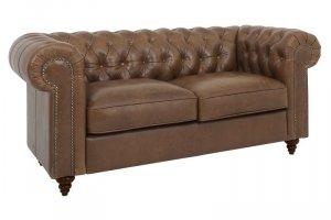 Классический кожаный двухместный диван Chester Classic - Мебельная фабрика «ОГОГО Обстановочка!»