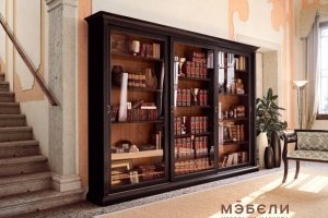 Книжный шкаф купе Люкс - Мебельная фабрика «МЭБЕЛИ»