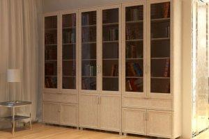 Книжный шкаф Неаполь2 - Мебельная фабрика «Елиза»