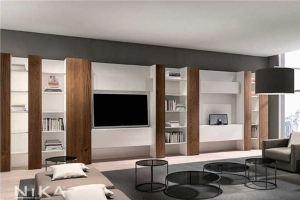 Книжный стеллаж в гостиную Картахена STL15 - Мебельная фабрика «NIKA premium»