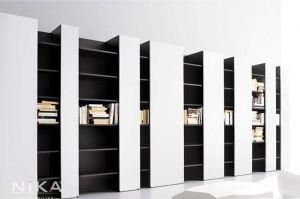 Книжный стеллаж в кабинет Таррагона STL16 - Мебельная фабрика «NIKA premium»