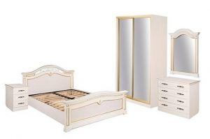 Коллекция мебели для спальни Сицилия светлая - Мебельная фабрика «Шуйская мебель»