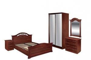 Коллекция мебели для спальни Сицилия темная - Мебельная фабрика «Шуйская мебель»