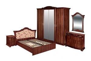 Коллекция мебели для спальни Сиена темная - Мебельная фабрика «Шуйская мебель»