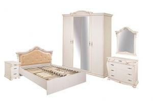 Коллекция мебели для спальни Сиена белая - Мебельная фабрика «Шуйская мебель»