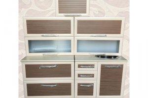 Комбинированная прямая кухня - Мебельная фабрика «Александра»