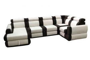 Комбинированный п-образный диван Честер - Мебельная фабрика «Добротная мебель»