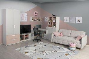 Комната подростковая Румика-Пинк - Мебельная фабрика «Мирлачева»