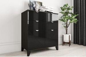 Комод черный Рондо 32 - Мебельная фабрика «IRIS»
