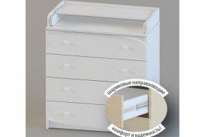 Комод детский 80-4 Щелкунчик белый - Мебельная фабрика «Атон-мебель»