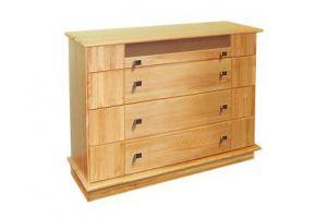 Комод из дерева Ландхаус 2 с 4 ящиками - Мебельная фабрика «Зеленая Сосна»