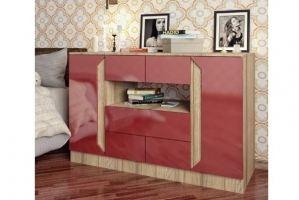 Комод красный Комо 10 - Мебельная фабрика «IRIS»