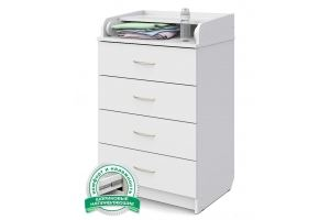 Комод ЛДСП Сириус 604 белый - Мебельная фабрика «Атон-мебель»