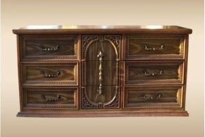 Комод массив дуба Медальон - Мебельная фабрика «Лидер Массив»