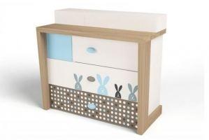 Комод Mix Bunny blue - Мебельная фабрика «ABC King»