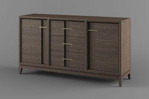 Комод распашной Бостон 3 - Мебельная фабрика «Вилейская мебельная фабрика»