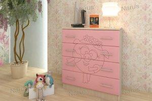 Комод розовый детский Нюша - Мебельная фабрика «НАРУС»