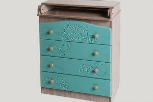Комод Сафаня №5 с пеленальным столом - Мебельная фабрика «Сафаня»