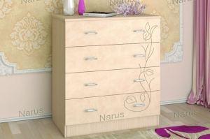 Комод с рисунком Нежность - Мебельная фабрика «НАРУС»