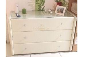 Комод San Leone Maxi Экокожа / стекло - Мебельная фабрика «Евросон Мебель»