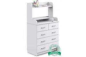 Комод Сириус 2 Полка 805 белый - Мебельная фабрика «Атон-мебель»