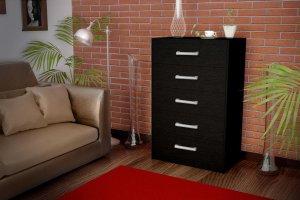 Комод черный В 4 - Мебельная фабрика «Империя»