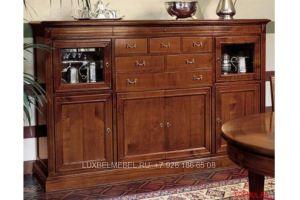 Комод (витрина) из массива 1546 - Мебельная фабрика «ЛюксБелМебель»