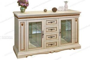 Комод витрина Милан 410 - Мебельная фабрика «Фабрика натуральной мебели»