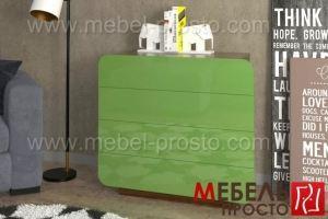 Комод зеленый Вестерн 4 - Мебельная фабрика «МЕБЕЛЬ ПРОСТО»