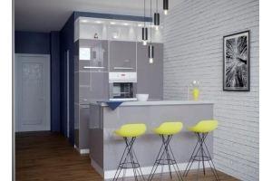 Компактная современная кухня - Мебельная фабрика «VELDE»