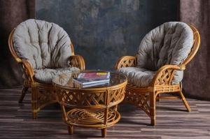 Комплект Черчилль дуэт из ротанга - Импортёр мебели «Радуга»