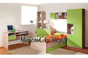 Комплект для детской комнаты зеленый 0015 - Мебельная фабрика «САнЭК»