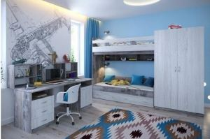 Комплект мебели для детской График - Мебельная фабрика «Виктория»