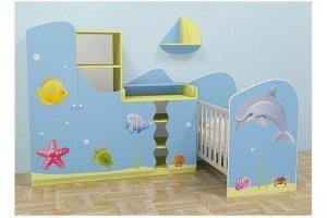 Комплект мебели для новорожденного Дельфин - Мебельная фабрика «Мебель от Михаила»