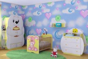 Комплект мебели для новорожденного Зайка - Мебельная фабрика «Мебель от Михаила»