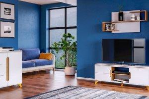 Комплект мебели в гостиную Сканди Белый снег - Мебельная фабрика «CALPE»