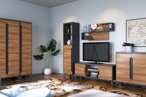 Комплект мебели в гостиную Сканди Орех Лион - Мебельная фабрика «CALPE»
