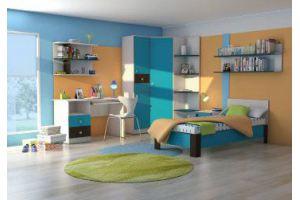 Комплект модульной мебели для детской Бриз 4  - Мебельная фабрика «Шадринская» г. Шадринск